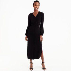 NWT J. Crew Black Jersey Long Sleeve Maxi Dress